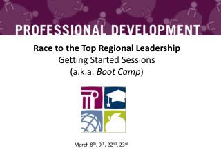 Race to the Top Regional Leadership Getting Started Sessions  ( a.k.a.  Boot Camp )