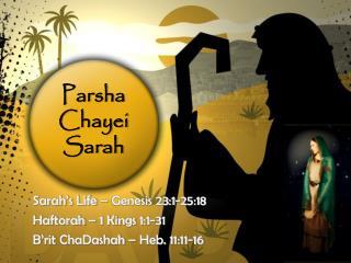 Parsha Chayei Sarah