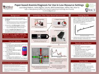 Paper-based Anemia Diagnosis for Use in Low-Resource Settings