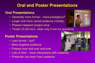 Oral and Poster Presentations