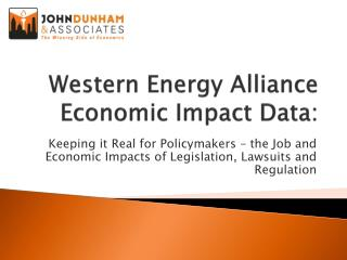 Western Energy Alliance Economic Impact Data: