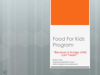 Food For Kids Program