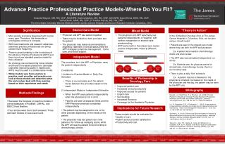 Advance Practice Professional Practice Models-Where Do You Fit?