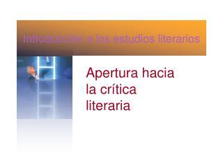 Introducci n a los estudios literarios