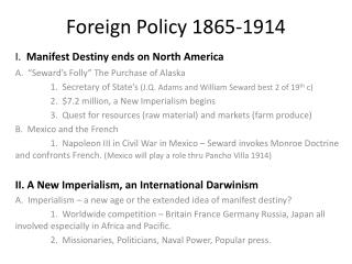 Foreign Policy 1865-1914