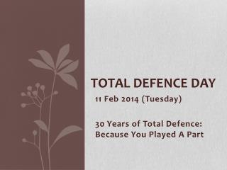 Total Defence Day