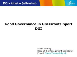 Good Governance in Grassroots Sport DGI