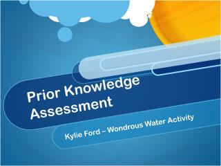 Prior Knowledge Assessment