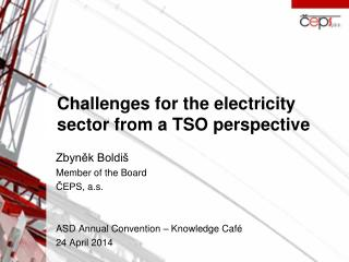 Challenges for the electricity sector from  a TSO  perspective