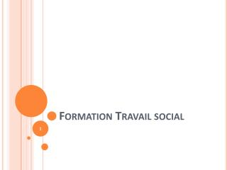 Formation  Travail social