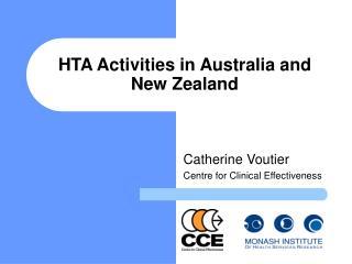 HTA Activities in Australia and New Zealand