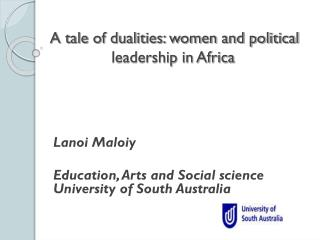 A tale of dualities: women and political leadership in Africa