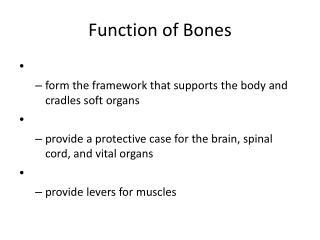 Function of Bones