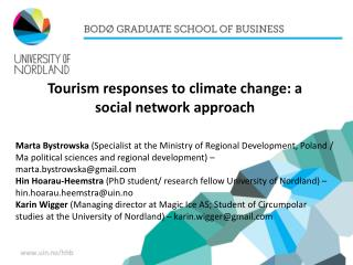 Tourism responses to climate change: a social network approach