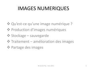IMAGES NUMERIQUES
