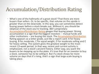 Accumulation/Distribution Rating