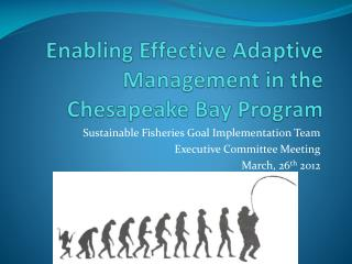 Enabling Effective Adaptive Management in the Chesapeake Bay Program