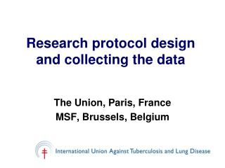 Research protocol design and collecting the data