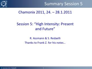 Summary Session 5