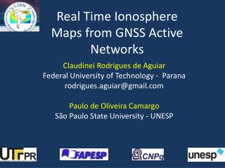 Real Time Ionosphere Maps from GNSS Active Networks