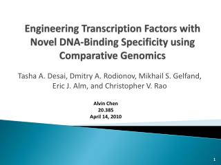 Engineering Transcription Factors with Novel DNA-Binding Specificity using Comparative Genomics
