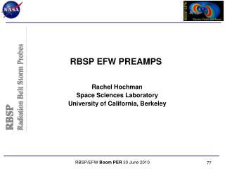 RBSP  EFW PREAMPS