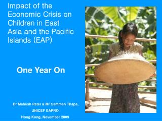 Impact of the Economic Crisis on Children in East Asia and the Pacific  Islands (EAP) One Year On