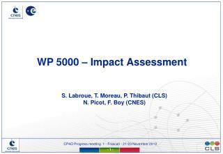 WP 5000 –  Impact  Assessment