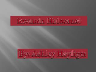 Rwanda Holocaust