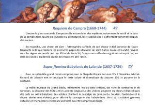 Requiem  de  Campra  (1660-1744)