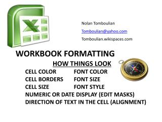 Workbook Formatting