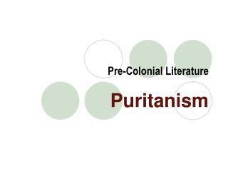 Pre-Colonial Literature