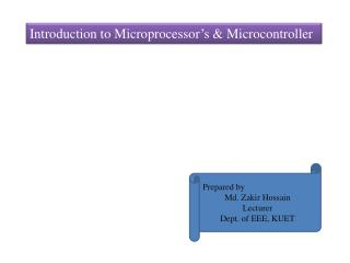 Introduction to Microprocessor�s & Microcontroller
