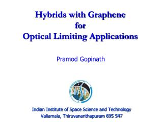 Hybrids with  Graphene for  Optical Limiting Applications