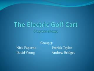 The Electric Golf Cart Progress Energy