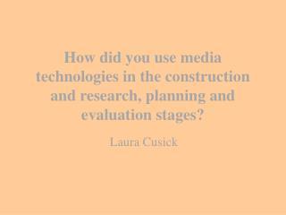 Laura Cusick