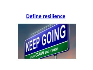 Define resilience