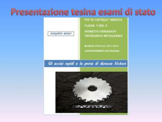 Presentazione tesina esami di stato