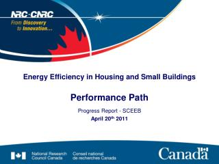 Energy Efficiency in Housing and Small Buildings Performance Path