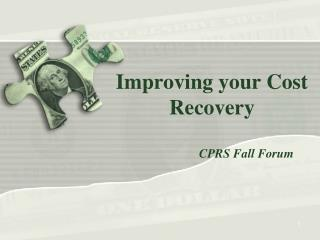 Improving your Cost Recovery