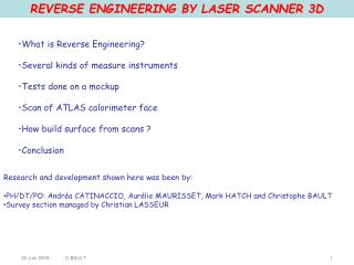 REVERSE ENGINEERING BY LASER  SCANNER  3D
