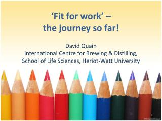 'Fit for work' –  the  journey so far!