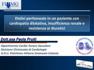 Dott.ssa Paola  Pruiti