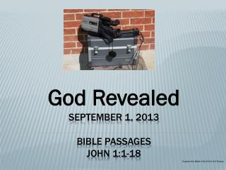 September 1, 2013 Bible Passages John 1:1-18