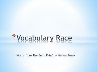 Vocabulary Race
