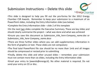 Submission Instructions � Delete this slide