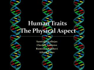 Human Traits  The Physical Aspect