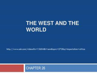 The West and the World