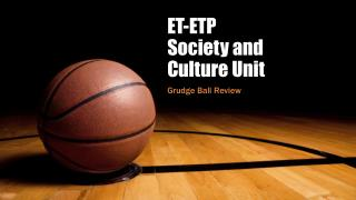 ET-ETP Society and Culture Unit