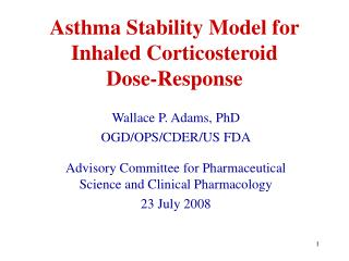 Asthma Stability Model for Inhaled Corticosteroid Dose-Response